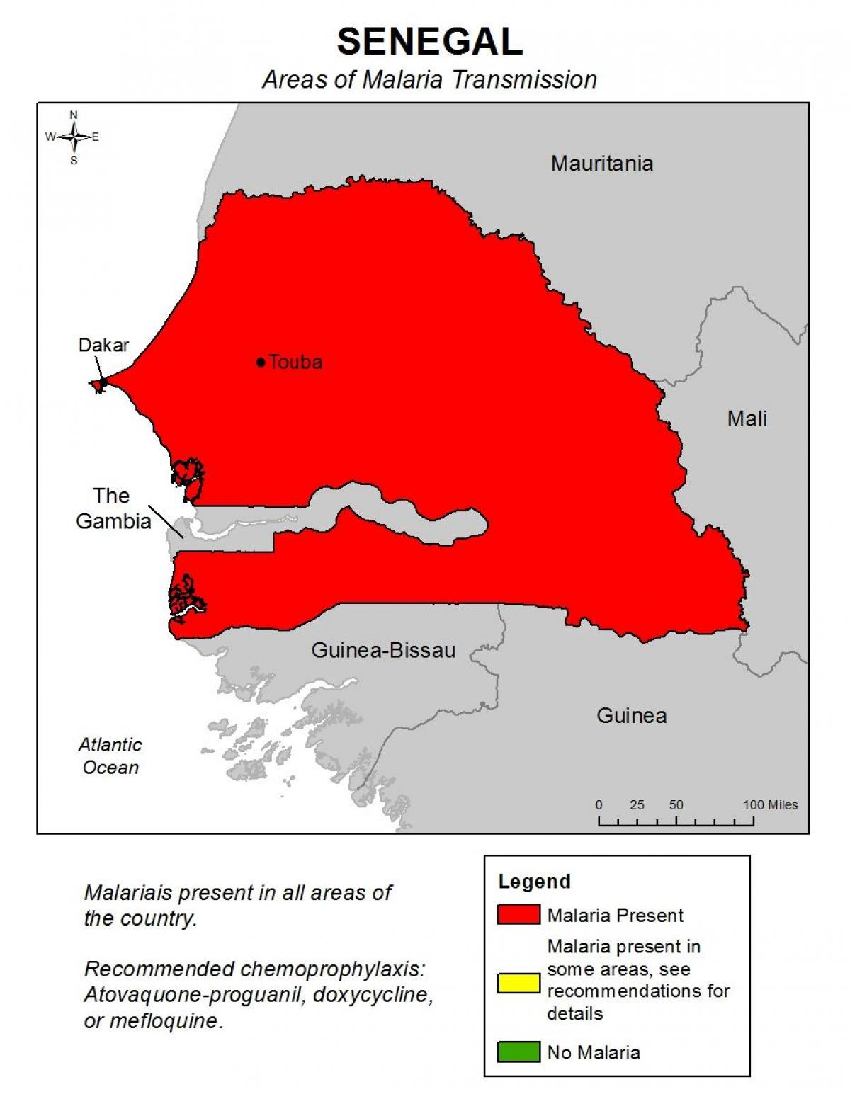 Senegalin Malaria Kartta Kartta Senegalin Malaria Lansi Afrikka